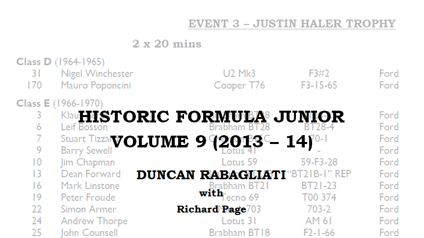 Historic Formula Junior Volume 9